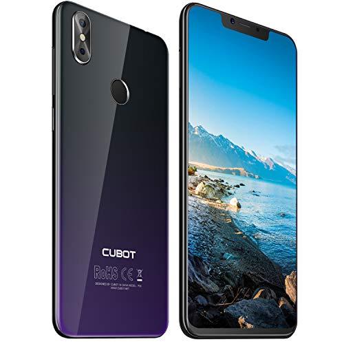 Cubot P20 4G-LTE Dual SIM Smartphone ohne Vertrag Android 8,0 Ultra dünn 6.18″(19:9) In-Cell Screen FHD Display (2246×1080px) mit 4000 mAh Akku 4GB RAM + 64GB ROM Handy Ohne Vertrag Twilight