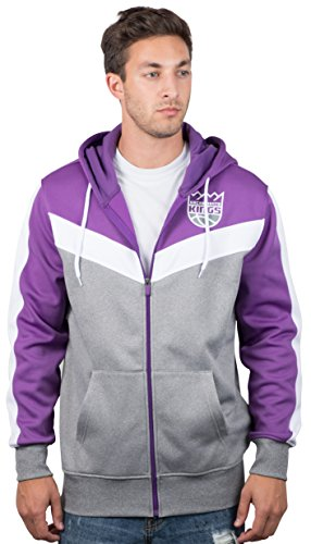 UNK NBA Herren gzm2948F NBA Zurück Schnitt Team Farbe Kontrast Full Zip Hoodie, Herren, GZM2948F, violett - Zurück Zip Hooded Sweatshirt
