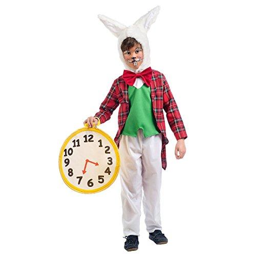 Weißes Wunderland Kaninchen Kostüm Kinder zum Alice Film - 3/5 Jahre (Kinder Weißes Kaninchen Kostüm Alice Wunderland)