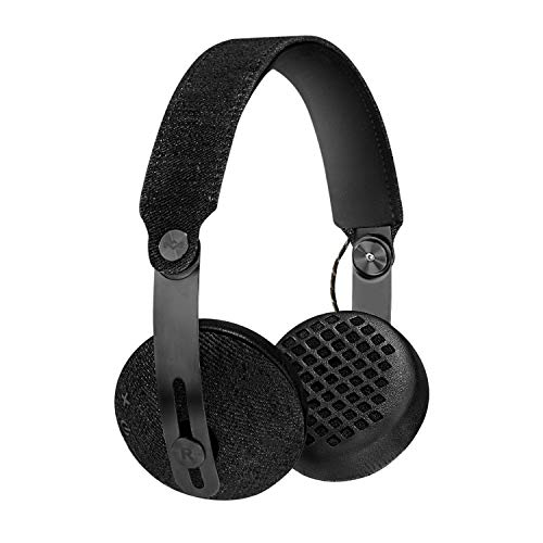 Marley Rise Cuffie Onear Bluetooth Wireless, Pieghevole, Driver: 50mm Driver, Connettore: 3.5mm Stereo, Nero
