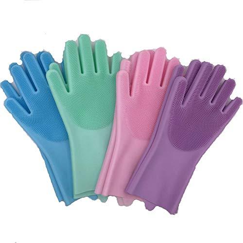 Silikongeschirrspülerhandschuhe Multifunktionale Reinigungshandschuhe Silikonhandschuhbürste Home Magic Gloves Mehrweggeschirrspüler, Küche, Auto, Ba