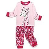 Little Hand Mädchen Weihnachten Schlafanzug Kind Baby Pajama Langarm Nachtwäsche Print Sleepwear Top Hose Set (Rosa-6, 1-2Jahre)