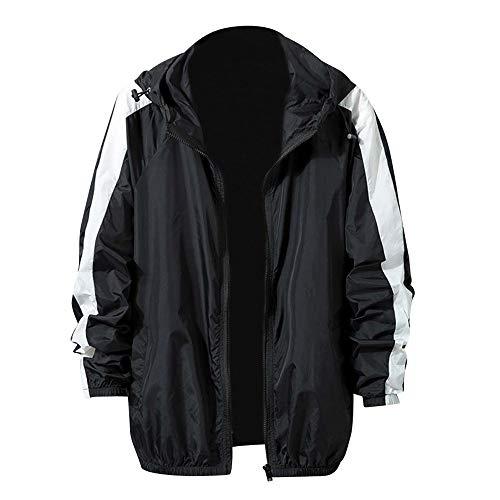 TEBAISE Herren Regenjacke Windbreaker Outdoor Jacke mit Kapuze Wasserdicht Atmungsaktiv Winddicht Laufjacke Männer Outdoorjacke