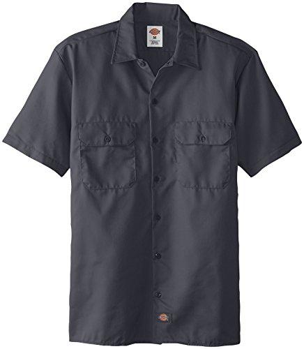 Dickies Herren Freizeithemd Work Shirt Short Sleeved Grau (Charcoal Grey Ch)