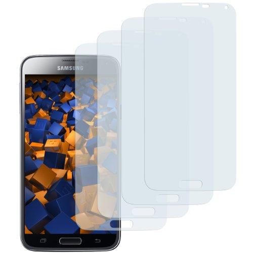 mumbi Schutzfolie kompatibel mit Samsung Galaxy S5 Folie, Galaxy S5 Neo Folie klar, Displayschutzfolie (4X)