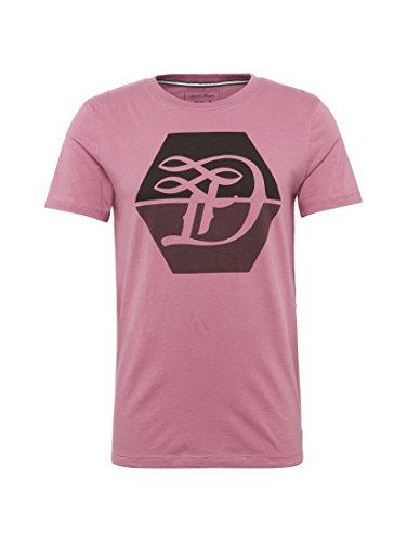 TOM TAILOR Denim Herren T-Shirt Logo D Crew Tee berry smoothie