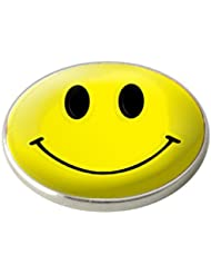 YELLOW SMILEY GOLF BALL MARKER. BY ASBRI GOLF