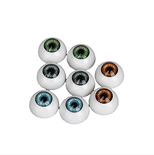 Demi Rond Creux acrylique Poupée Ours dollfie Craft Eyes globes oculaires Lot de 6
