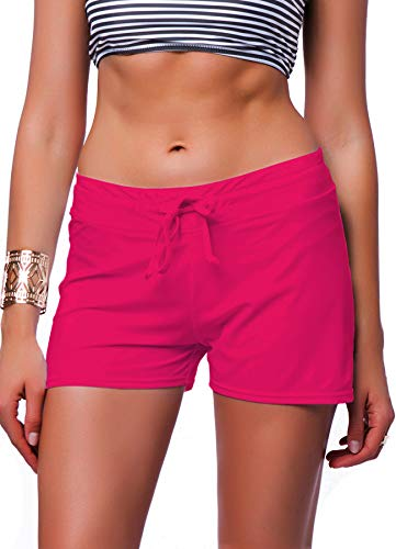 erstellbarer Bikini Bottom Innen Schwimmen Kurz Beach Bademode Trunk Pants, Damen, Rose, Medium ()