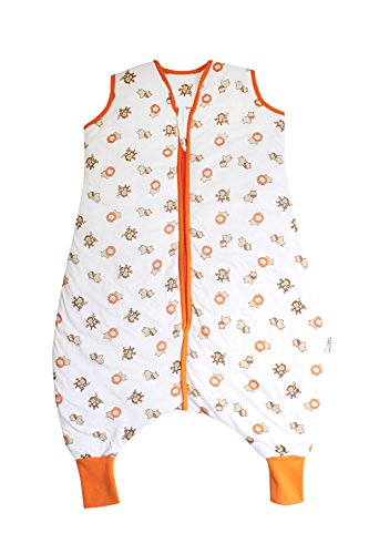 Preisvergleich Produktbild Schlummersack Schlafsack mit Füßen leicht gefüttert für den Sommer in 1.0 Tog - Wilde Tiere - 24-36 Monate/100 cm