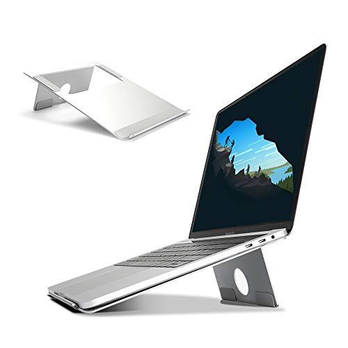 WEYO Laptop Ständer Aluminium Notebook Ständer, Leicht Computer Stand mit Silikon Pad Anti-Rutsh für MacBook, Air, HP, Samsung, Lenove, Tablet, Silber