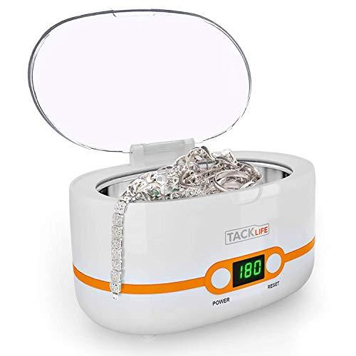 Ultraschallreiniger 600ml, Tacklife MUC02 Ultraschallreinigungsgerät 50 Watt mit Digitalanzeige und 5 Zeiteinstellungen für Brillen, Schmuck, Uhren, Zahnprothesen