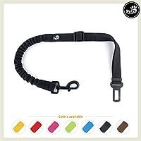 [Gesponsert]Pets&Partner Hunde Autogurt/Sicherheitsgurt in verschiedenen Farben passend zu Halsband und Geschirr, Schwarz mit schwarzem Karabiner