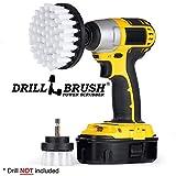 Drill Brush - Trapano Kit Spazzola - Spazzola per la Pulizia - Trapano Trapano Attacco Automotive Soft-White