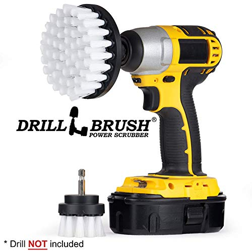 Drill Brush - Cleaning Brush for Drill - Power Scrubber Drill Brush - Drill Brush Set - Drill Brush Attachment - Glass Cleaner - Car Carpet - Drill Brush Rims - Drill Brush Wheels - Car - Boat -