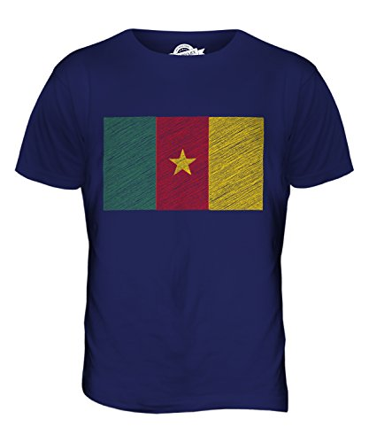 CandyMix Kamerun Kritzelte Flagge Herren T Shirt Navy Blau