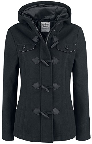 Brandit Girls Duffle Coat Manteau Femme noir XL