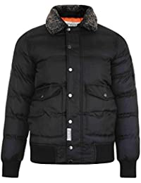 Mens Jacket D Struct New Casual Padded Windbreaker Button Up Ribbed Winter Coat