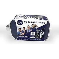 NIVEA MEN Sensitive, neceser con set de baño, caja de regalo con after shave, desodorante y gel de ducha, pack para hombre para una higiene y suavidad diaria