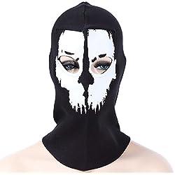 Naisicatar Ghost Skull Full Face Mask Zapato de Senderismo de esquí en Plein Air Beanie Rostro Máscara Colormix