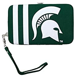 NCAA Michigan State Spartans Shell Wristlet, 3.5 x 0.5 x 6-Inch, Green