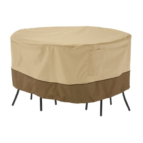 Classic Accessories Veranda Abdeckung für runden Bistrotisch mit Stühlen