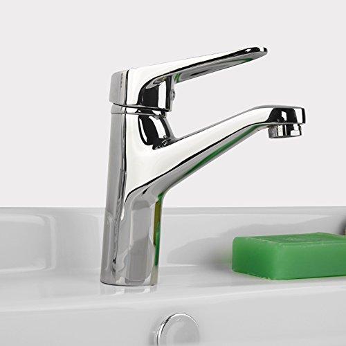 Acqua rame calda risparmio rubinetto monocomando monoforo lavabo rubinetto centro di ceramica valvola del rubinetto di bacino
