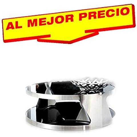 MESA DE CENTRO BAJA, ACERO INOXIDABLE, CRISTAL, 90 CMS DISEÑO MODERNO MODELO AOSTA - OFERTAS HOGAR -¡AL MEJOR PRECIO!