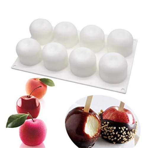 Molde de silicona genérico con 8 agujeros para hornear, forma de manzana,...