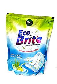IMC Eco Brite Detergent Powder 1 KG Enriched With Aloe Vera,Lime & Neem (Pack Of 3)