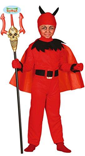Guirca Teufel mit Umhang Kinder Kostüm Gr. 110-146, Größe:110/116