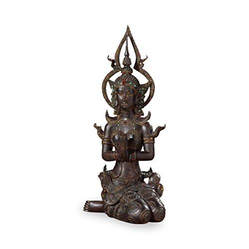 Pajoma 70748 Deko Buddha kniend, H 41 cm