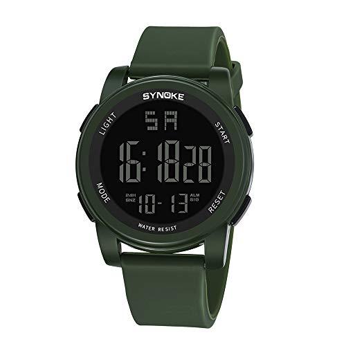Uhren Herren Armbanduhr Multi Funktions Militärsportuhr LED Digital Dual Movement Uhr Business Uhren Wrist Delicate Watch Luxus Klassisch Mode Armbanduhr,ABsoar