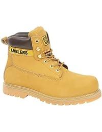 Amblers acero FS7Mujer puntera botas seguridad textil piel goma cordones calzado