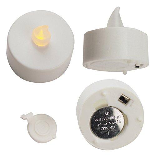 24unidades LED Velas Té Luz 066Incluye batería bloque. Vela