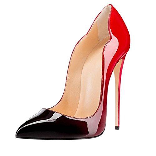EDEFS Scarpe col Tacco Donna Classico Ritaglio High Heels Chiuse Davanti Scarpa Svanire