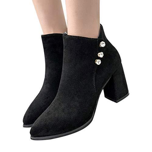 Bottes Femmes, Manadlian Bottes à Talons Pointues Automne Hiver Chaussures à Glissière Latérale Boots Forage Bottes Meilleure Vente Classiques Bottes 35-42