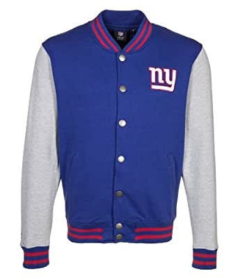NFL NEW YORK GIANTS AMERICAN FOOTBALL HEWES JACKET BY MAJESTIC ATHLETIC (XL)