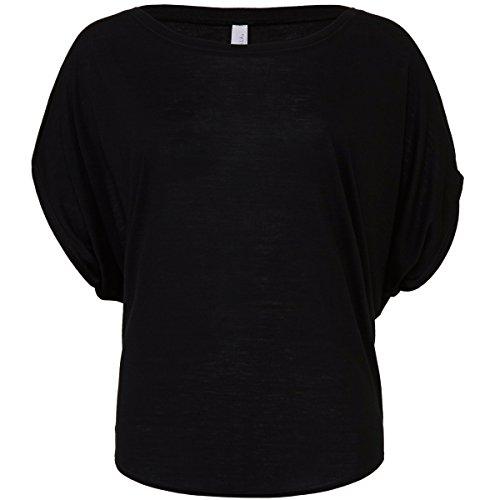 Black Dolman Sleeve (Flowy draped sleeve dolman t-shirt Black S)