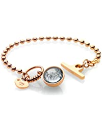 Storm Crystal Ball Silver Bracelet of 21cm POXIFW1WZj
