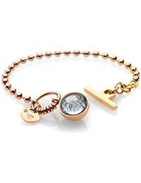 Storm Crystal Ball Gold Bracelet of 21cm