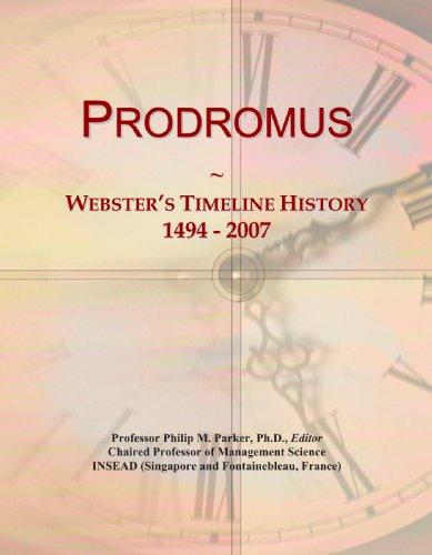 Prodromus: Webster's Timeline History, 1494 - 2007