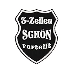Smart Aufnäher in Wappenform W2 mit Wunschtext - verschiedene Größen (10x8cm) - personalisiert