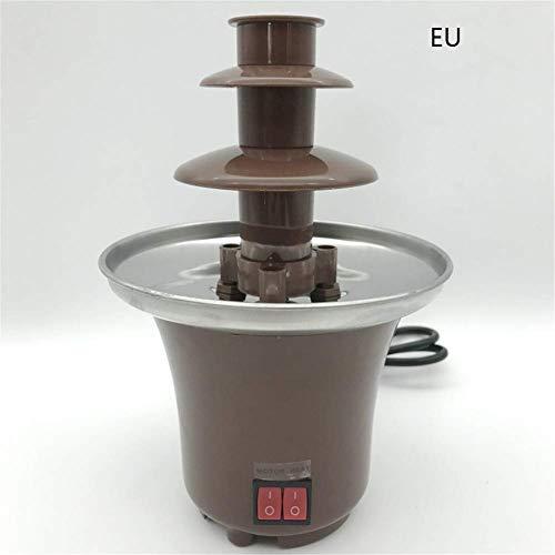 MiaZhou Mini Chocolate Fuente Fondue Maceta Chocolate Deshace Máquina para Fiesta Infantil - EU Plug
