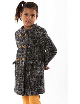 Garbantex abrigo niña de invierno caliente fantasia tweed lana