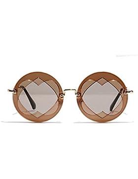 KUKI Señora corazón redondo gafas de sol retro mujer , 2
