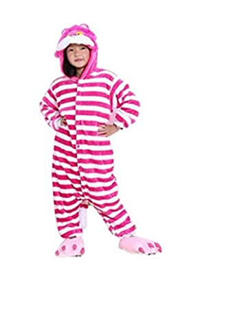 Kids Boys Girls Animal Character Onesies Fancy Dress Up Pyjamas Pajamas Size Age (10-12 Y (125), Cat)