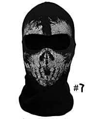 "Coofit Masque Cagoule ""Ghost Tete de Mort"" - Couleur Modern Warfare - Airsoft Paintball Moto Outdoor Couleur"