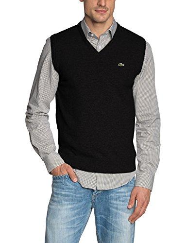 Lacoste Herren AH2998-00 Pullover, Schwarz (Noir 031), Small (Herstellergröße: 3) - Lacoste Wolle Pullover