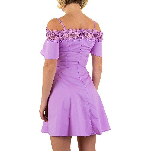 Spitzen Mini Kleid Für Damen bei Ital-Design Lila